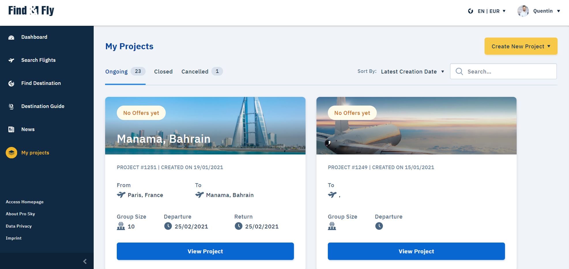 Find _ Fly - unrivalled booking process 2